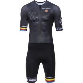 Bioracer Van Vlaanderen Racefiets Speedsuit korte mouwen, black